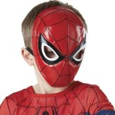 Official Spiderman 1/2 Mask Moulded, Child Costume