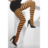 Striped Tights (adult) Orange/Black