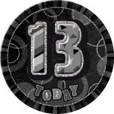 Dazzling Effects 13th Birthday Badge - Black 6
