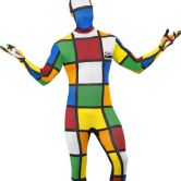 Rubik's Cube Second Skin Adult Costume