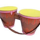 Inflatable Bongo Drums Inflatable for Hawaiian African Tropical Fancy Dress Inflatable
