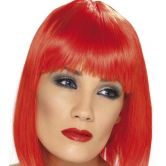 Glam Wig Neon Red