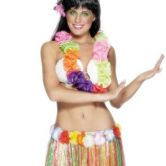 Hula Skirt Multi Coloured with Flowers 79cm