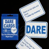 Dare Cards Stag Night Games for Boys Blue