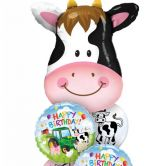 Cow Farmyard Birthday Display