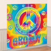 60s Groovy Scene Setters Wall Decorating Kit