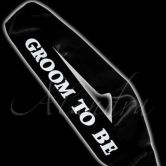 Black Groom to Be Sash