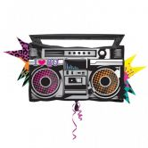 Totally 80`s Boombox - SuperShape Foil Balloon