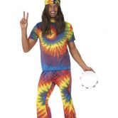 60's Groovy Tie Dye Male Adult Costume