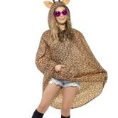 Giraffe Party Poncho, Shower Resistant