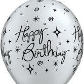 Birthday Elegant helium filled latex balloon