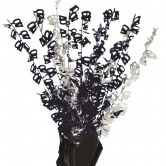 Dazzling Effects 40th Black Foil Centrepiece - Table Decoration