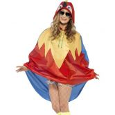 Parrot Party Poncho, Shower Resistant