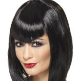 Vamp Wig, Black, Short with Fringe