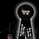 Stag Do Groom Rosette Badge