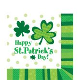 St Patricks Day Luncheon Napkins - Lucky Wishes