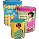 Tin Canisters 3 Pack - Sixties Girls