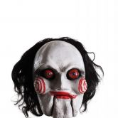Official Saw Horror Film Billy Deluxe Latex Mask, Adult Costume