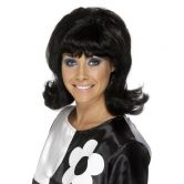 Flick Up 60's Lady Wig Black