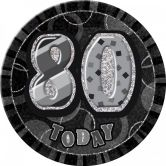 Dazzling Effects 80th Birthday Badge - Black 6