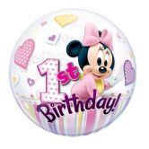 Minnie Mouse 1st Birthday Bubble Balloon 22