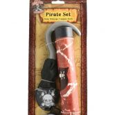 Pirate Set, Hook, Telescope, Compass and Eyepatch