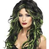 Gothic Bride Wig, Long, Streaked