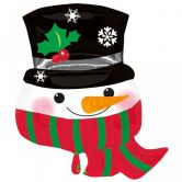 Snowman with Scarf SuperShape Foil Balloon