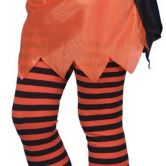 Child Striped Tights Orange and Black