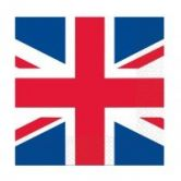 Sold Out - Great Britain Flag Luncheon Napkins