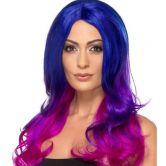 Fashion Ombre Wig, Blue & Pink