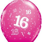 16-A-Round Wild berry helium filled latex balloon