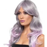 Fashion Ombre Wig, Grey & Pastel Pink