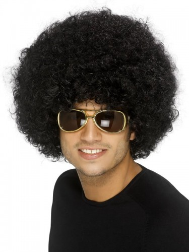 Funky Afro Wig 70's Disco Black (Example Photo)