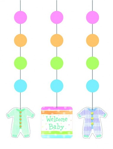Hanging Cutout Baby Shower Baby Clothes  (Example Photo)