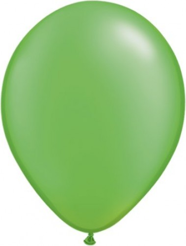 Pearl Lime Green helium filled latex balloon (Example Photo)