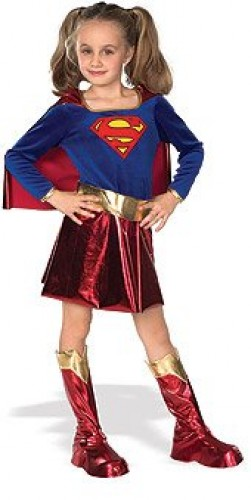 Super Girl Child Costume (Example Photo)