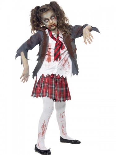 Zombie School Girl Costume  (Example Photo)