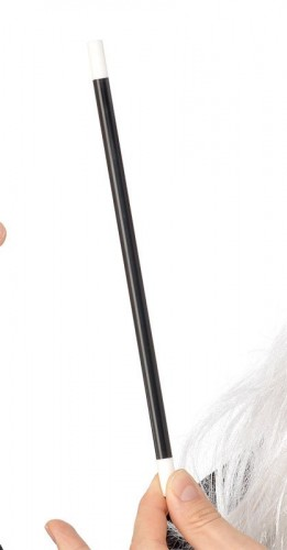 Magic Magicians Wand Black with White Tips (Example Photo)