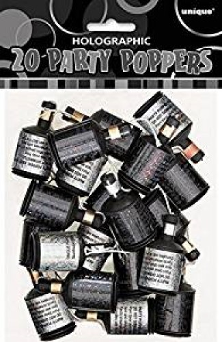 Party Poppers, Pack of 20  (Example Photo)