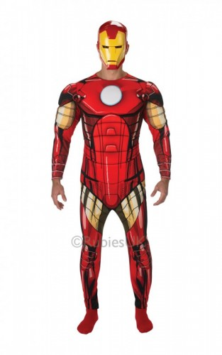 Adult Iron Man Classic Deluxe Costume L/C (Example Photo)