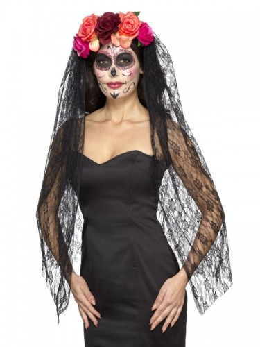 Deluxe Day of the Dead Headband (Example Photo)