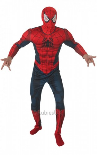 Adult Spider-man Deluxe Adult Costume (Example Photo)