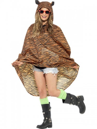 Tiger Party Poncho, Shower Resistant  (Example Photo)