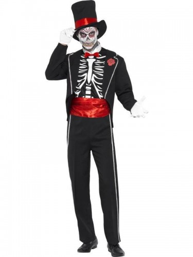 Day of the Dead Male Costume SOLD OUT (Example Photo)