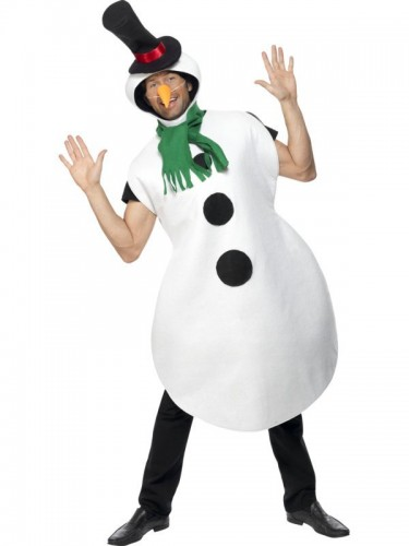 Snowman Adult Costume (Example Photo)