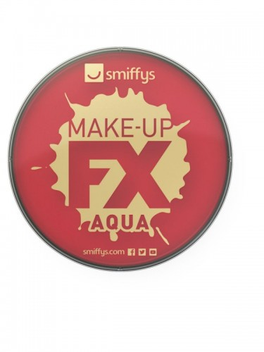 Smiffy's Make-Up Fx, Aqua Face and Body Paint, Bright Red (Example Photo)