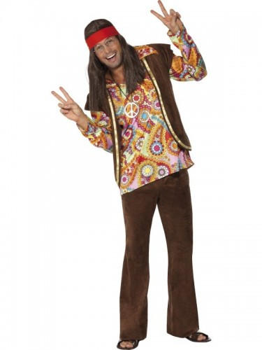 Psychedelic 1960's Hippy Costume (Example Photo)