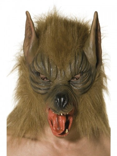 Wolf Mask  Brown (Example Photo)