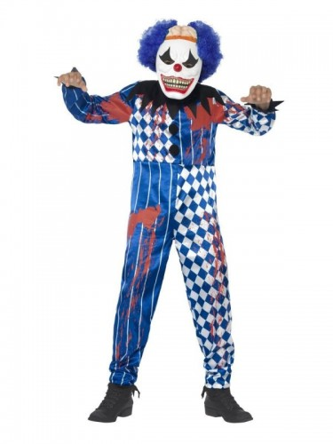 Deluxe Sinister Clown Costume  (Example Photo)